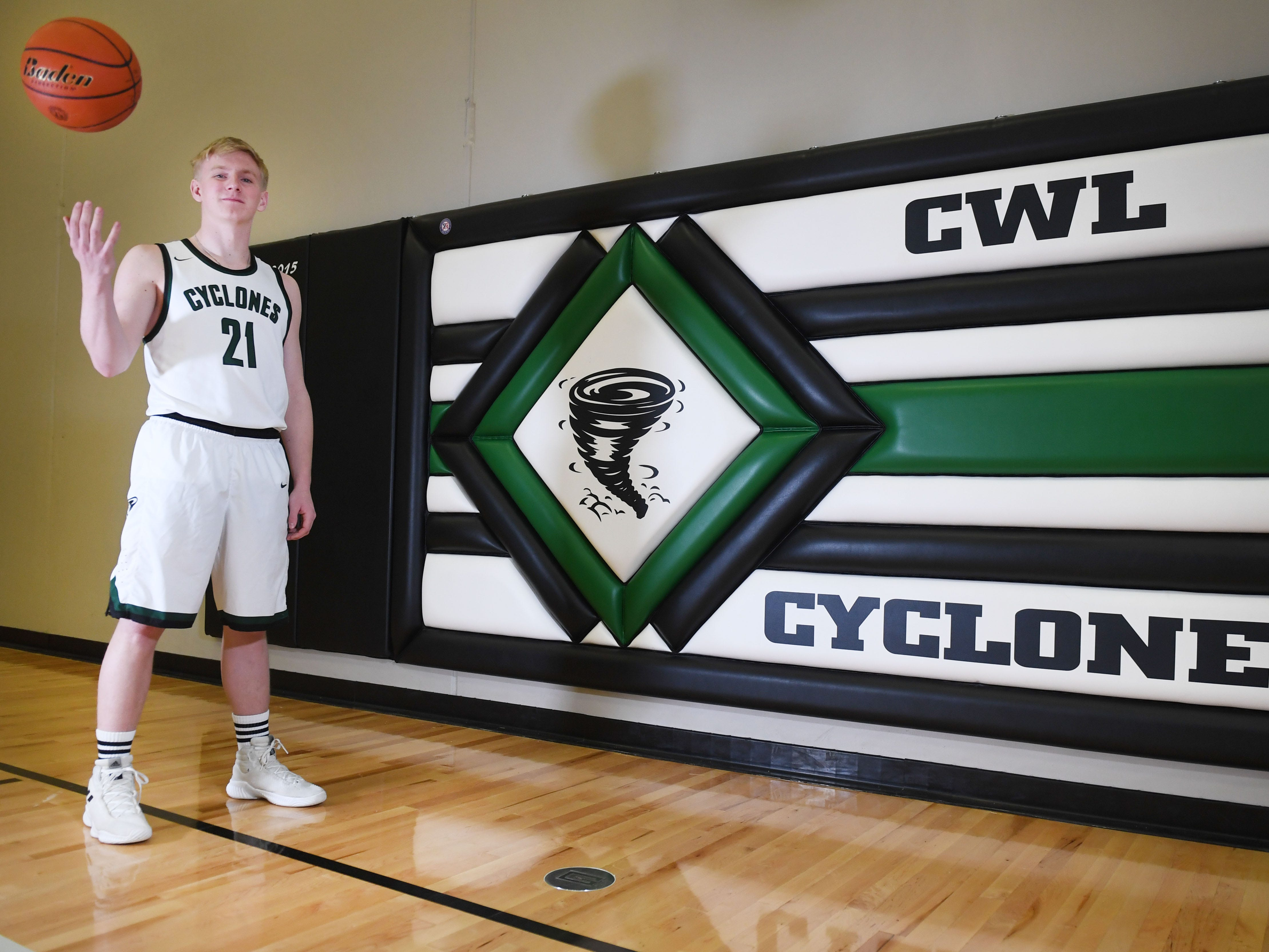 Willow Lake High School's Jacob Prouty Wednesday, March 27, in Willow Lake.