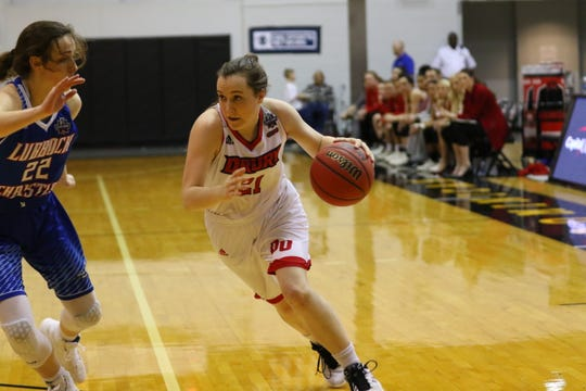 Drury guard Payton Richards in Wednesday night's game against Lubbock Christian.