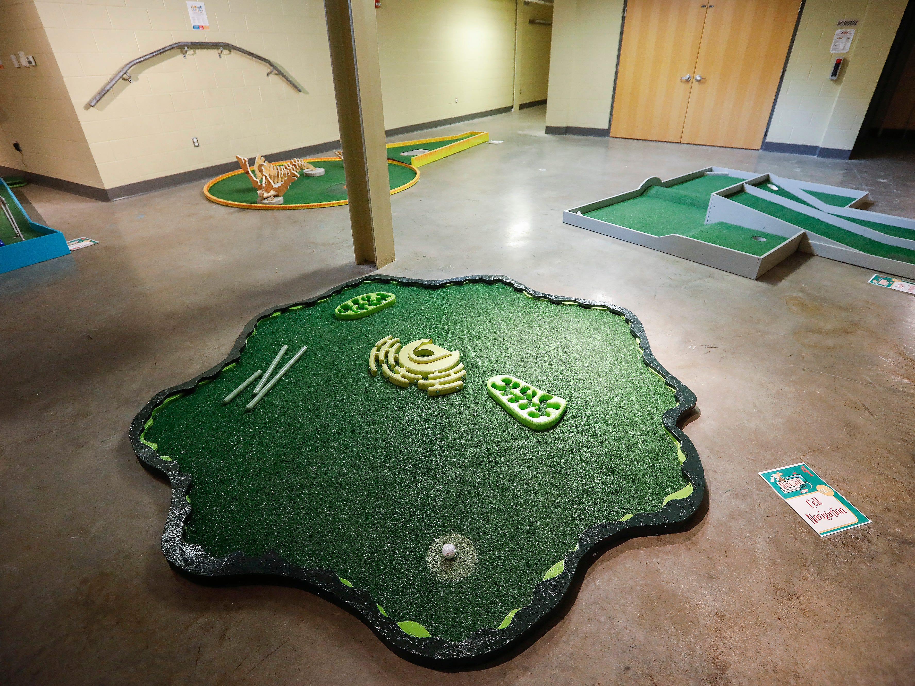 A new 9-hole indoor miniature golf course at the Discovery Center will open to the public on Sunday, March 31, 2019.