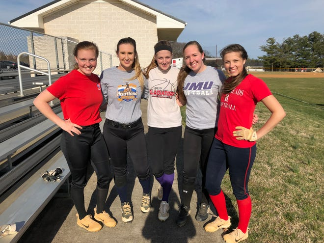 Riverheads High School seniors Emma Grubb, Faith Christian, Alie Campbell, Sara Moore and Emily Walters spent spring break at softball practices and games, as well as working at their jobs.