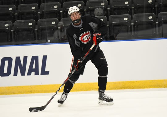 St. Cloud State's Spencer Meier has a goal and nine assists in 37 games this season as a freshman.