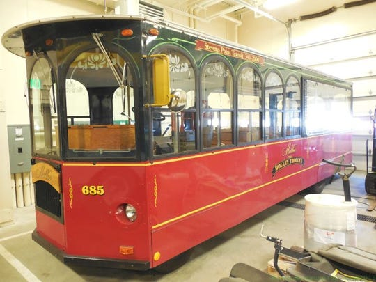 Stevens Point promotional trolley vehicle, Millie the Trolley, was put up at auction in March by the city.