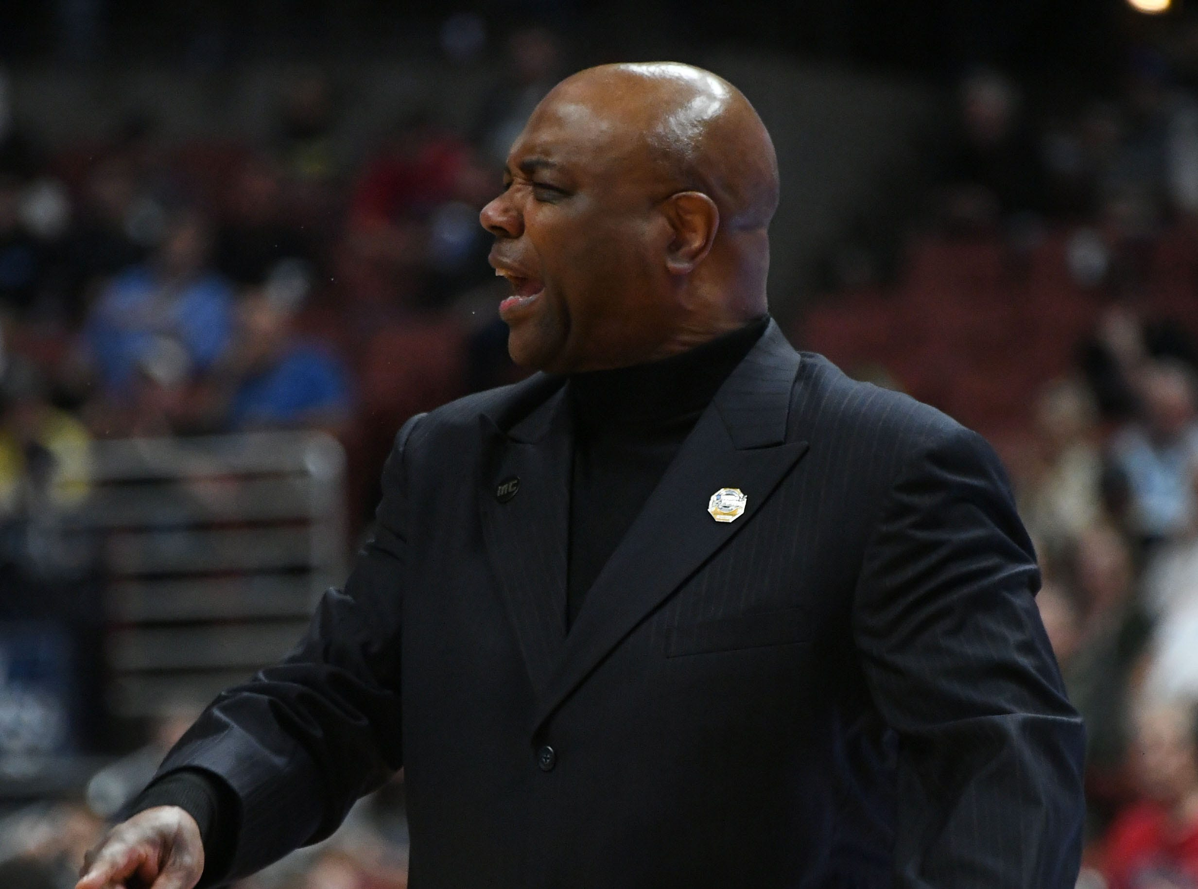 March 28, 2019; Anaheim, CA, USA; Florida State Seminoles head coach Leonard Hamilton watches game action against the Gonzaga Bulldogs during the first half in the semifinals of the west regional of the 2019 NCAA Tournament at Honda Center. Mandatory Credit: Richard Mackson-USA TODAY Sports