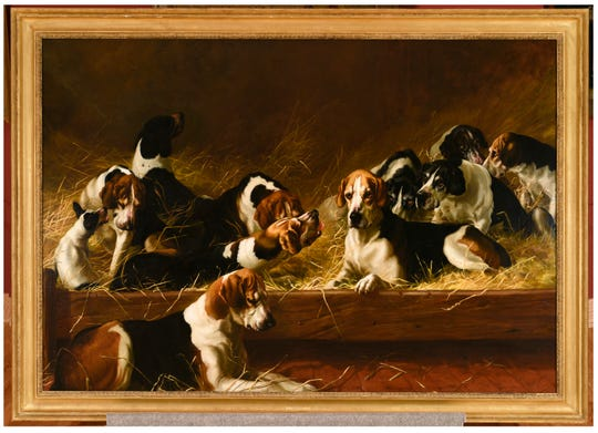 "Maud Earl's ""Old Benchers,"" 1885, oil on canvas is part of the Working Like A Dog Exhibition at Pebble Hill."