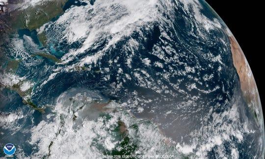 Satellite image of the Atlantic March 28, 2019.