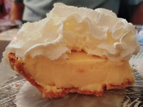 The Catfish House makes one dessert, a light and fluffy key lime pie.