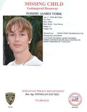 Tommy James York, 17, was reported missing Thursday from Sebastian.