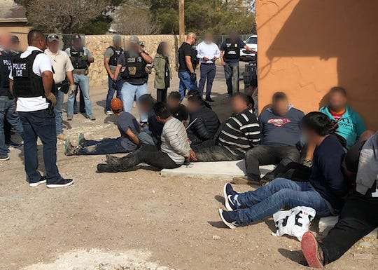 ICE agents detained 54 people in a raid of an immigrant stash house on Seville Drive in South-Central El Paso.