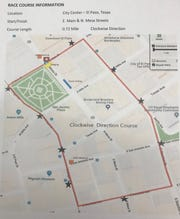 The map highlights the route of the USA Crits race Saturday. Be prepared to detour if headed to other events in the area.