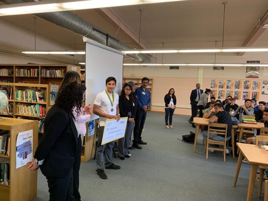 Fillmore High senior Jorge Acevedo was honored this week with a $40,000 scholarship from Edison International. The funds will help him pursue his dream career in a science, technology, engineering or math field.