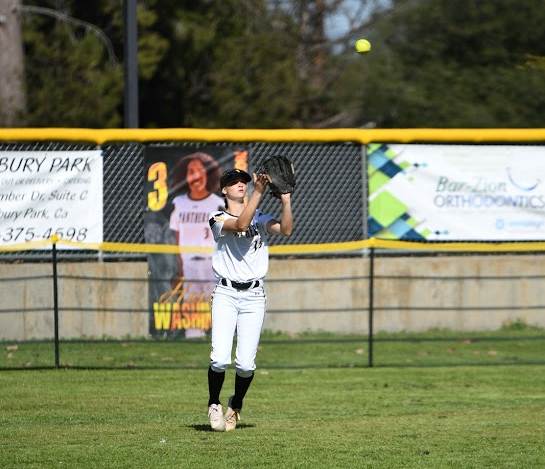 Senior outfielder Chase Knapp is leading the Newbury Park High softball team in hitting with a .542 batting average this spring.
