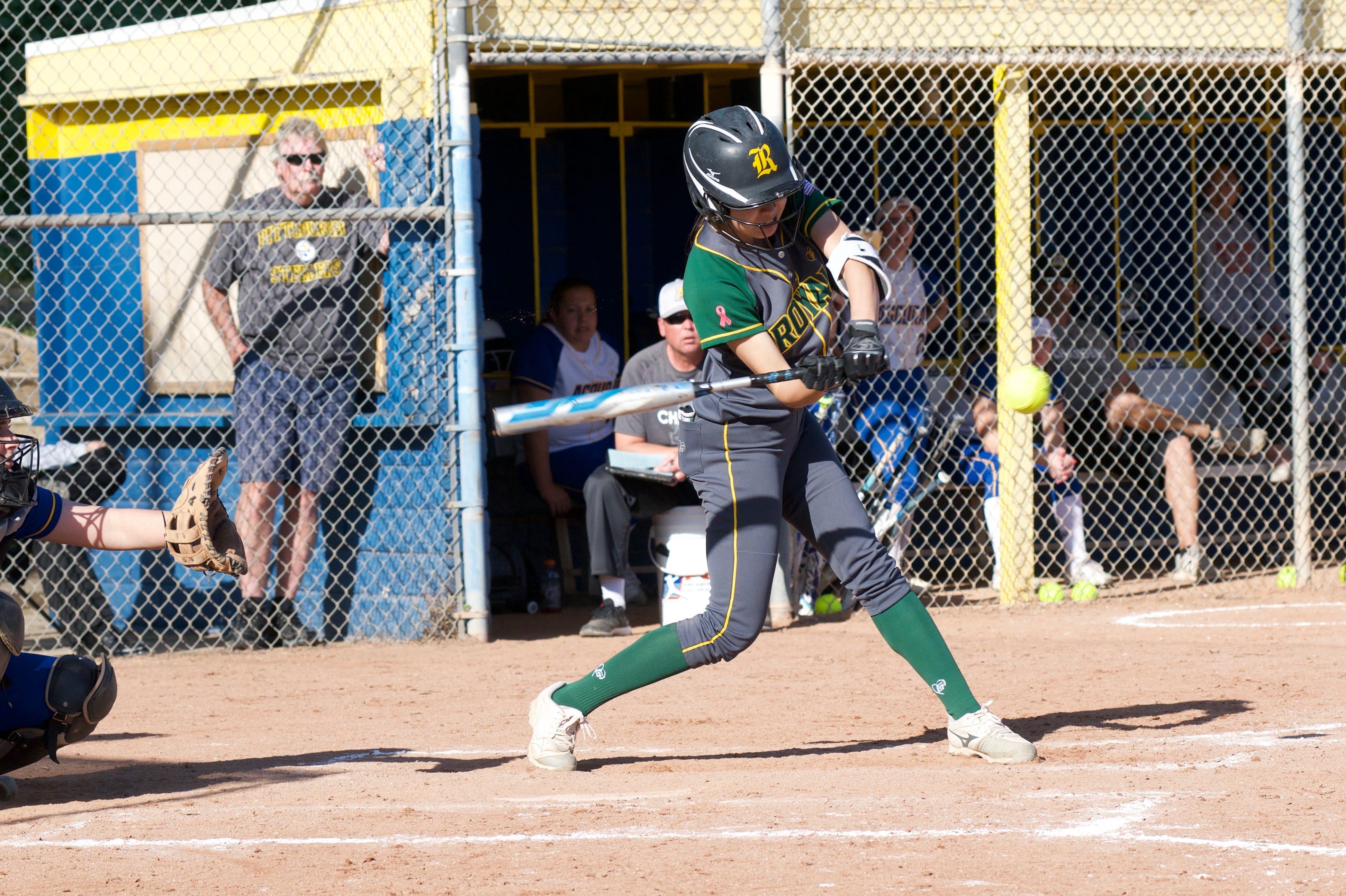 Sophomore Allison Ha leads the Royal High softball team with seven home runs.