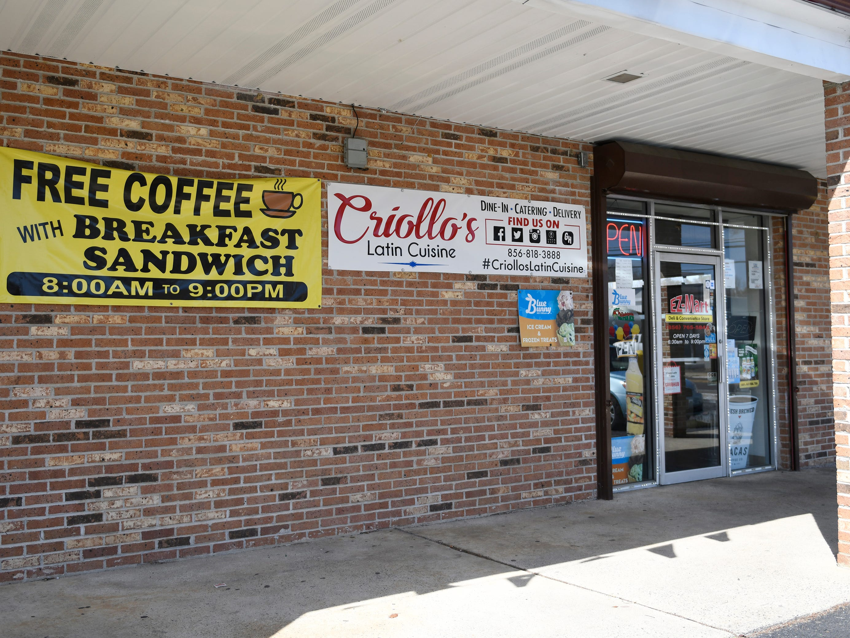 Criollo's Latin Cuisine specializes in Spanish, Puerto Rican and Dominican food. The restaurant is located inside the EZ-Mart on West Main Street in Millville.