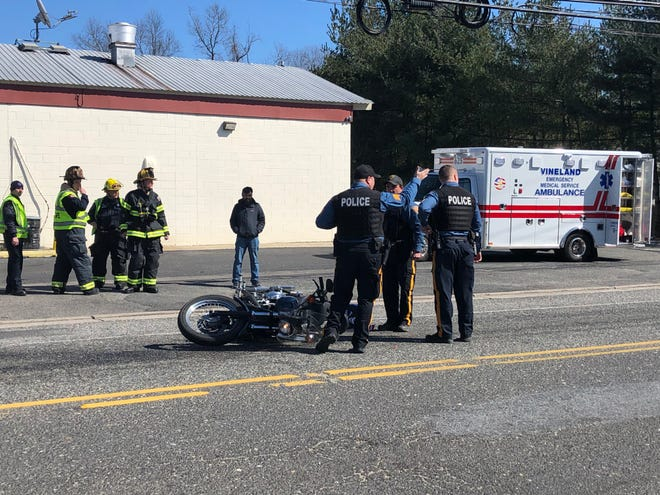 A motorcyclist was reported injured after a spill along Mill Road, near Landis Avenue. March 28, 2019