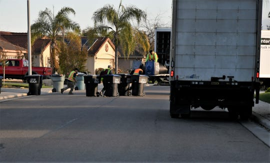 Visalia sanitation crews hit the streets to swap out more than 60,000 cans across the city.