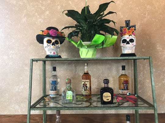 Tequila and other liquor bottles on display at Casa Mezcal in Mosinee.