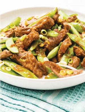 Chinese Beef and Peapods, which can be cooked in one skillet or dish, is packed with vitamins and minerals, thanks to all the vegetables.