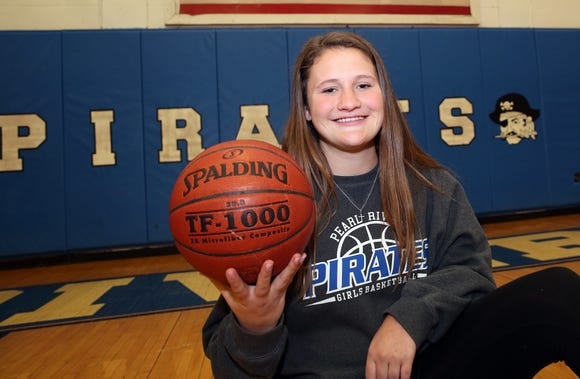 Pearl River's Ashley Rilley, is this week's Rockland Scholar-Athlete of the Week, she is photographed in the Pearl River gym March 27, 2019.