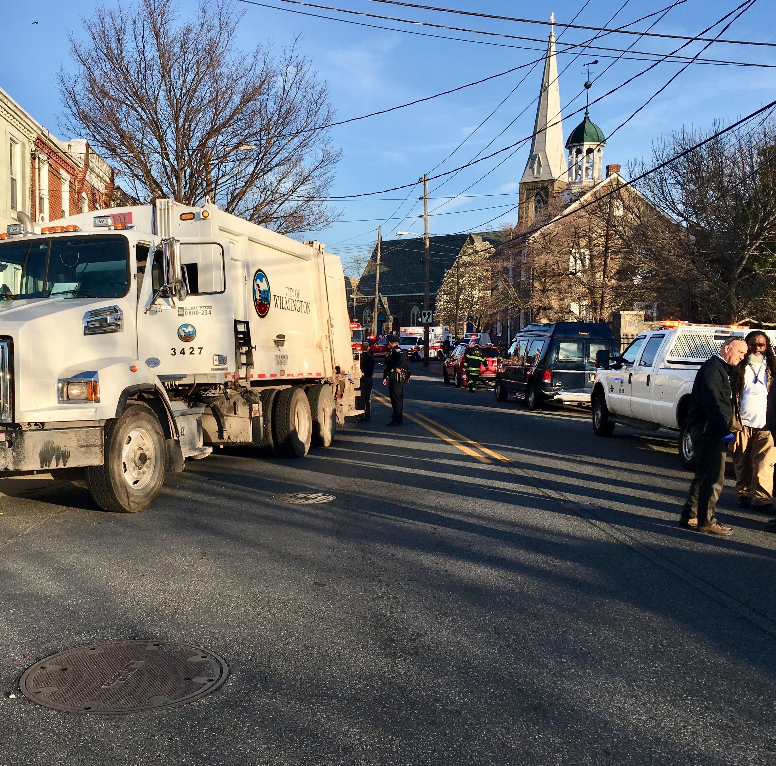 Wilmington trash collectors injured by explosion in truck's garbage compactor
