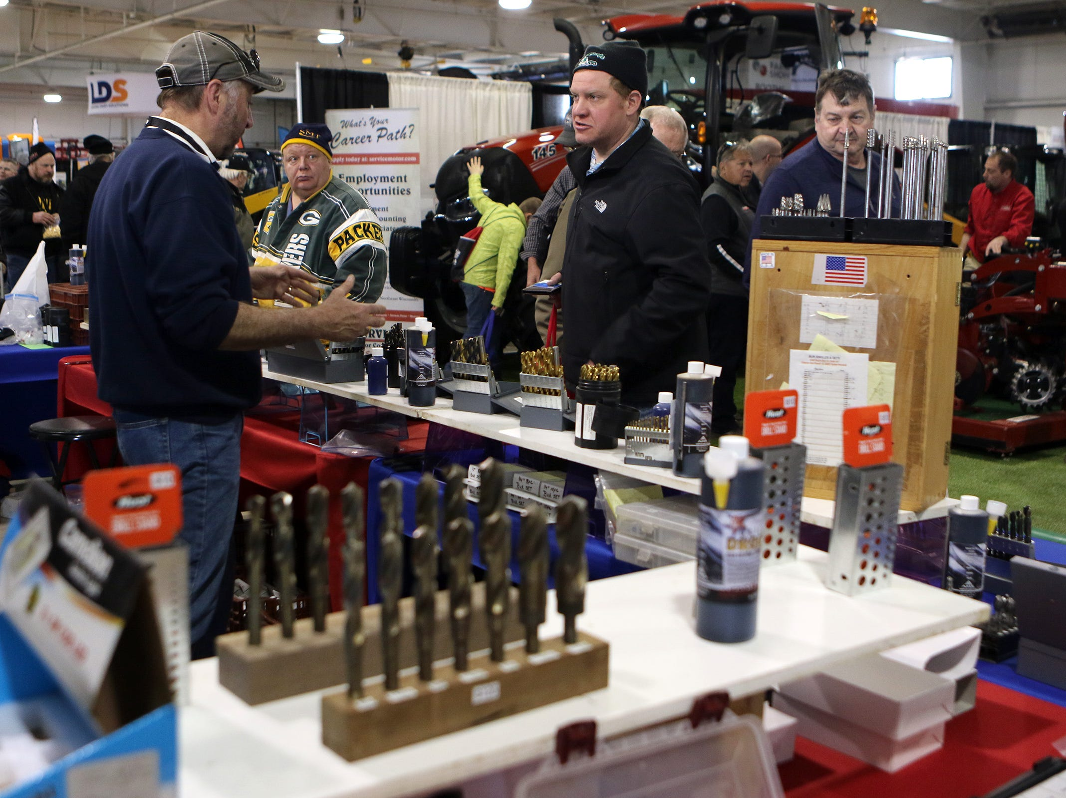 Lots of drill bits to pick from at the Wisconsin Public Service Farm Show in Oshkosh, which ran March 26-28.