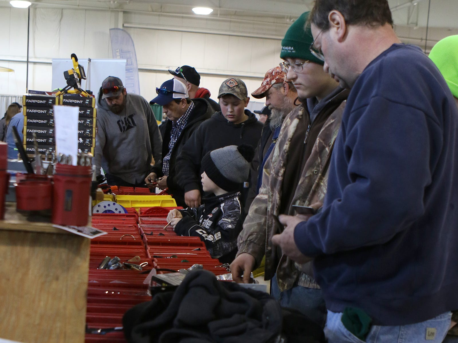 There was lots of interest in tools at the Wisconsin Public Service Farm Show on March 27 in Oshkosh.