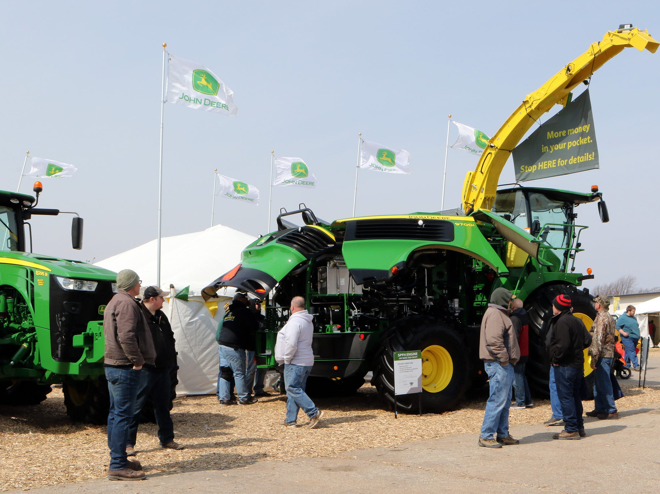 The John Deere 9700i forage harvester garnered lots of attention during the Wisconsin Public Service Farm Show on March 27 in Oshkosh.