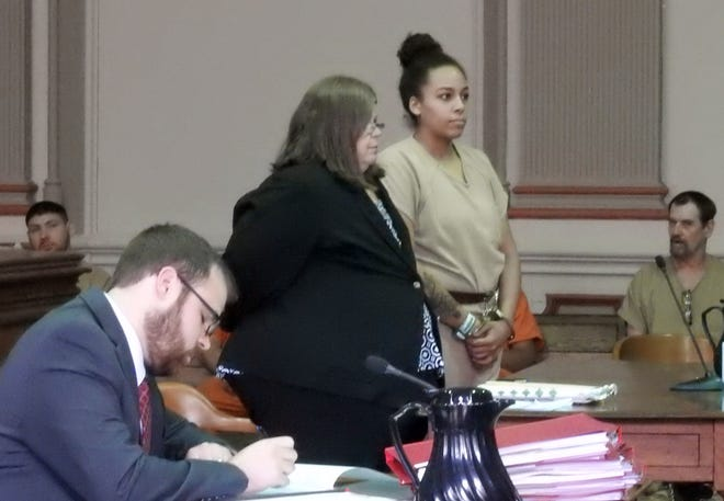 Brianna Dotson, represented by Amy Otto, pleaded guilty this week for her roll in the May 12 armed robbery at Little Caesars on Maple Avenue.