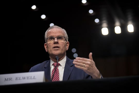 Acting FAA Administrator Daniel K. Elwell testifies in the Senate on March 27, 2019.