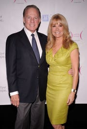 Kathie Lee Gifford and Frank Gifford in 2010 in New York City.