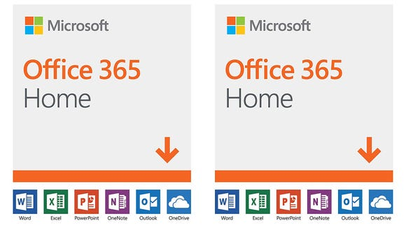 Microsoft Office 365 Home comes with Word, Excel, PowerPoint, OneNote, and Outlook.
