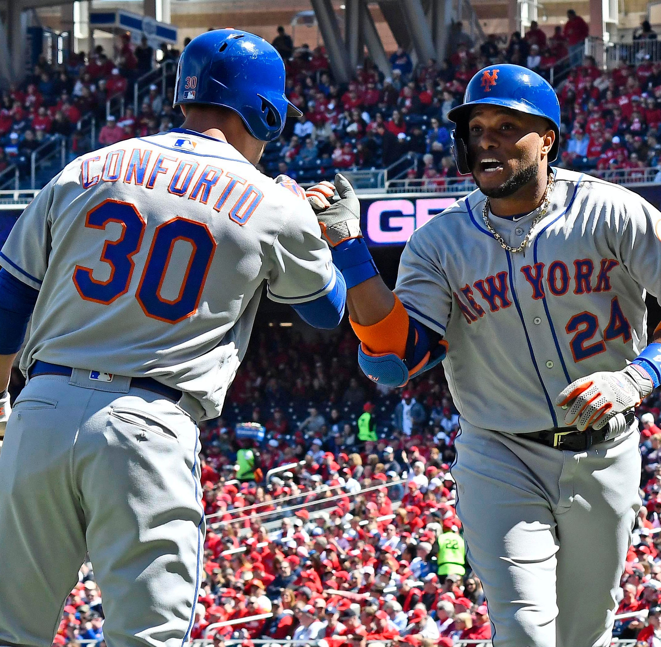 Mets' Jacob deGrom dominates, Robinson Cano comes up big in opening day win over Nationals
