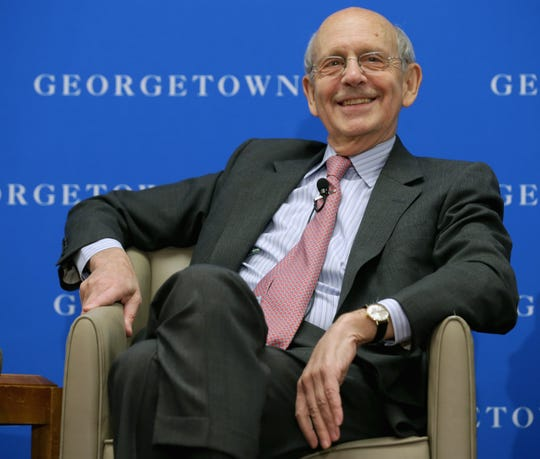 Supreme Court Associate Justice Stephen Breyer participates in a panel at the Gewirz Student Center on the campus of Georgetown University Law Center in 2014.