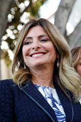 Lisa Bloom stands outside a courthouse in Los Angeles, on July 10, 2017.