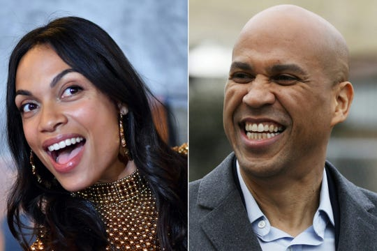 Actress Rosario Dawson and Senator Cory Booker