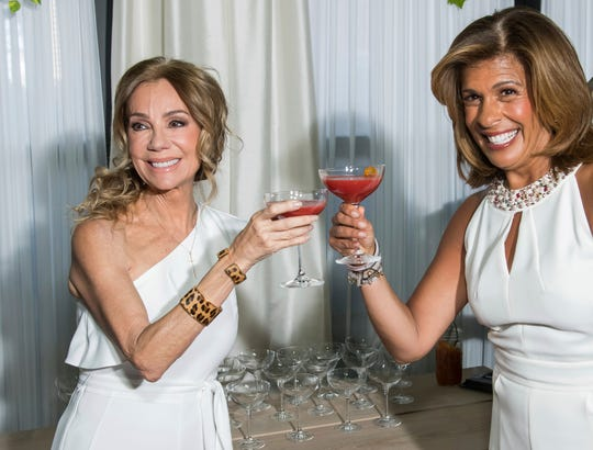 Kathie Lee Gifford and Hoda Kotb attend Gifford's farewell party at The Times Square Edition on March 26, 2019, in New York.