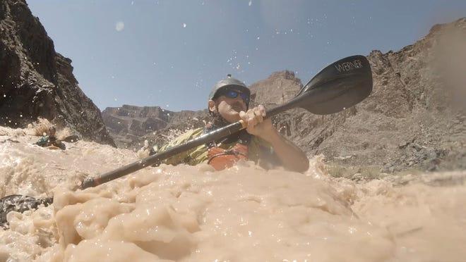Veteran Lonnie Bedwell kayaks the Colorado River
