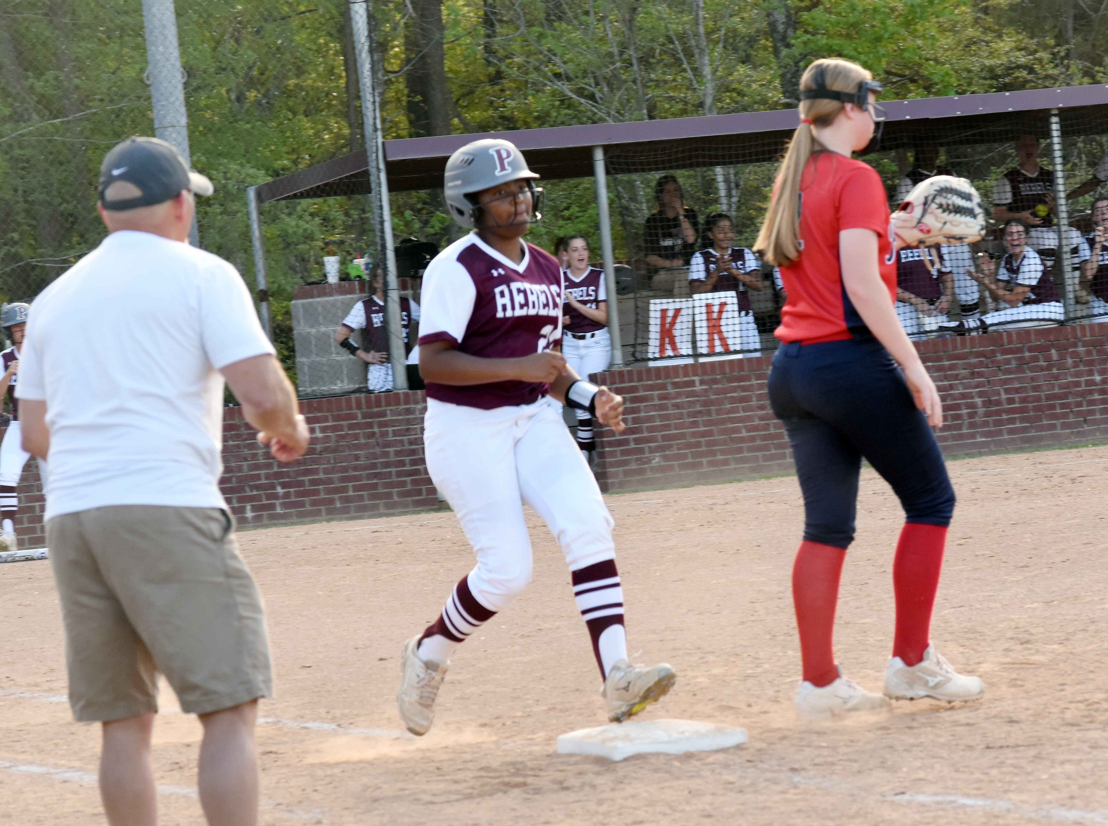 The Pineville High School Lady Rebels hosted the West Monroe High School Lady Rebels Thursday, March 28, 2019. West Monroe won 11-2.
