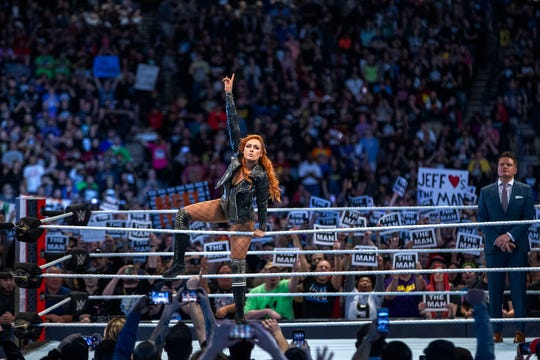 WWE superstar Becky Lynch is in the main event of WrestleMania 35.