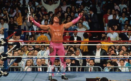 "Brutus ""The Barber"" Beefcake at WrestleMania IV in Atlantic City, 1988."