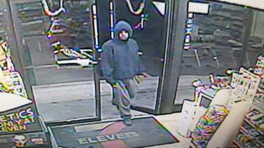 Toms River police are seeking this man who brandished a knife at two stores on  Thursday