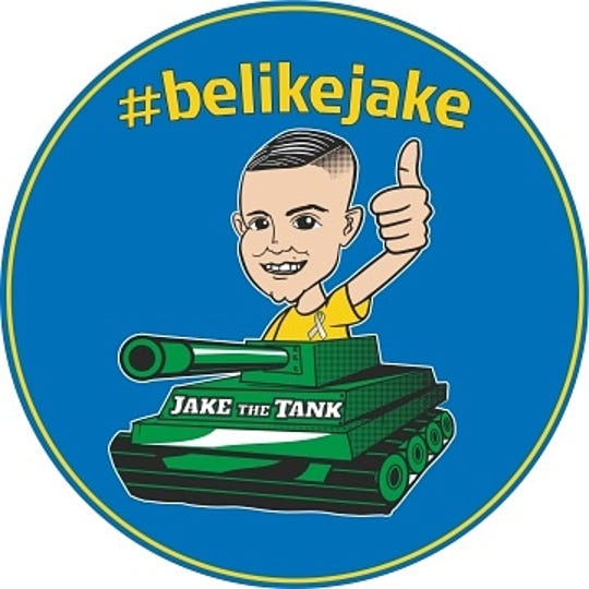 """The official logo of the """"be like jake"""" nonprofit."""