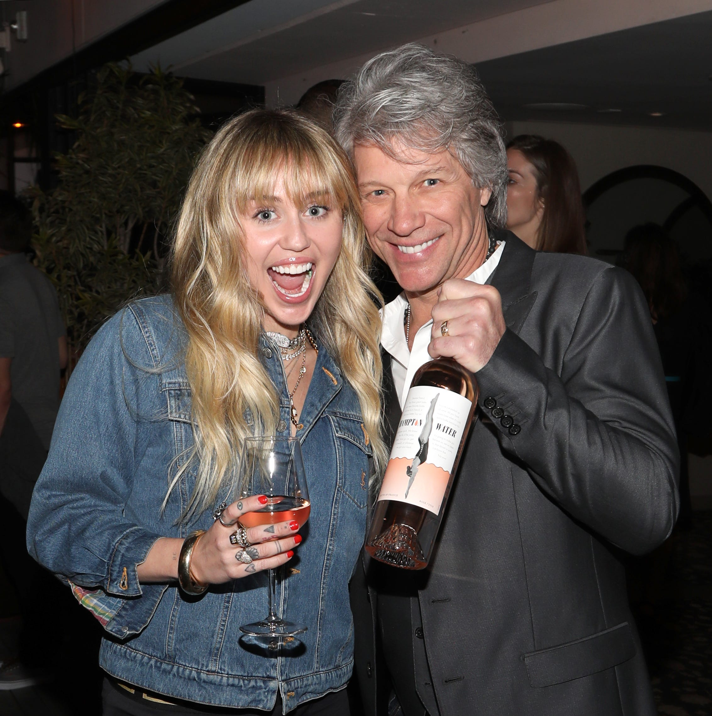 Bon Jovi Hampton Water: Miley Cyrus comes out for star-studded LA launch party