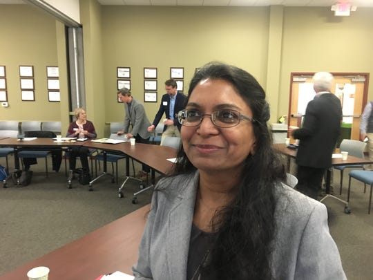 """Sushma Masemore, deputy assistant secretary for the environment and state energy director spoke about Gov. Roy Cooper's Executive Order 80 at the annual """"State of our Air"""" conference March 29 in Asheville."""