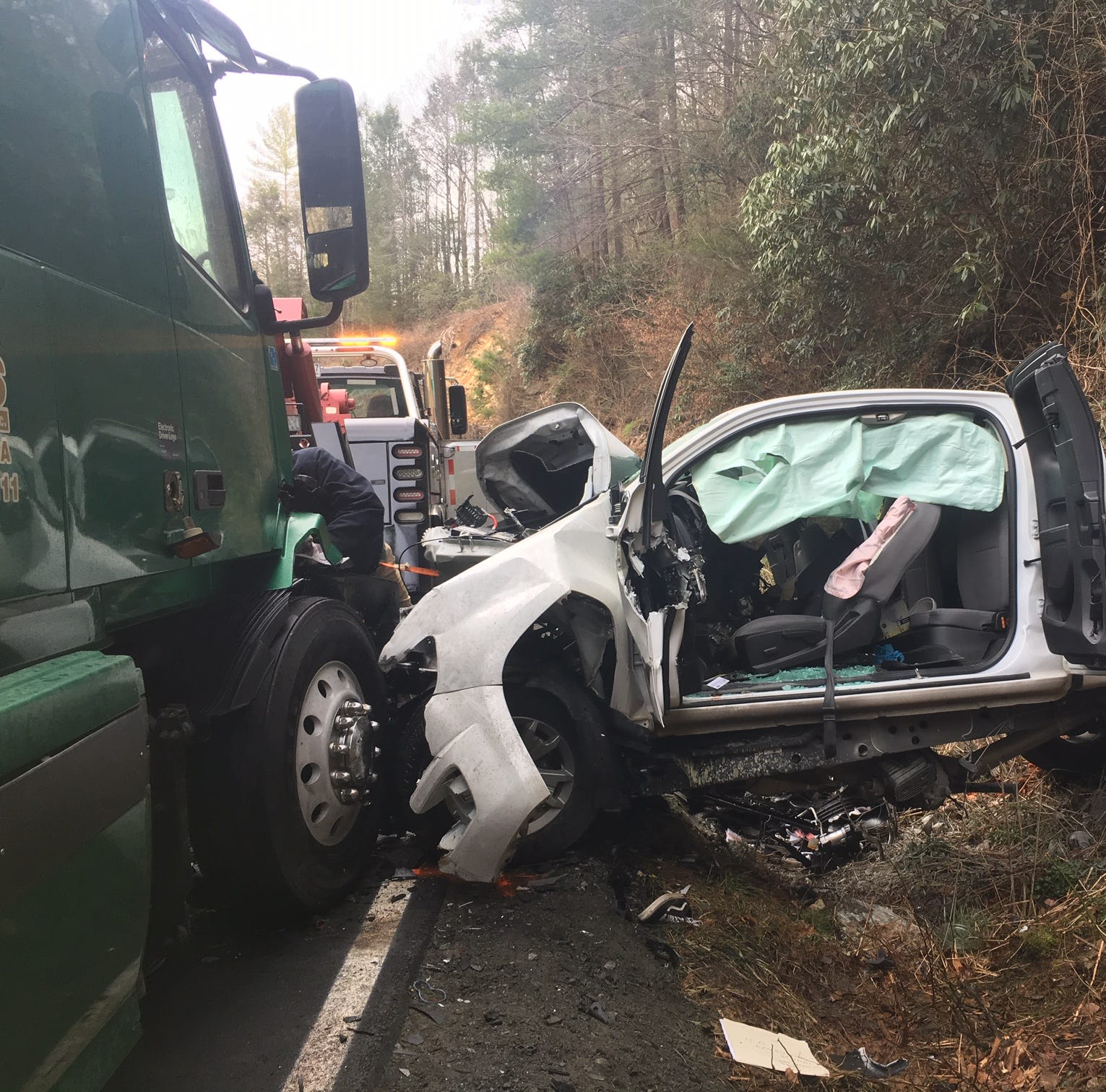 Driver killed in head-on collision in Madison County on NC 208