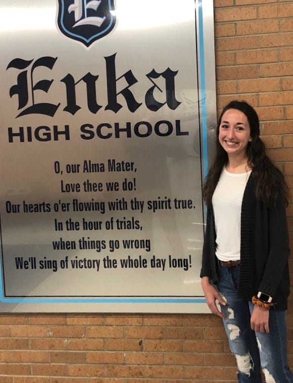 """Enka's Meredith Anderson was named the NCHSAA's """"Heart of a Champion"""""""