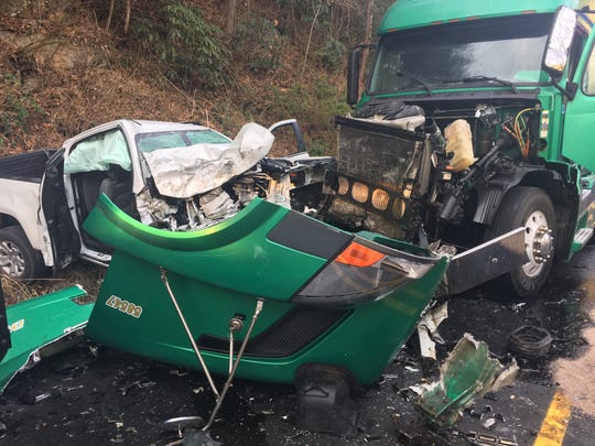 A head-on collision between a pickup and a tractor-trailer likely killed the driver of the pickup instantly, according to Laurel Fire Department chief Emerson Franklin.