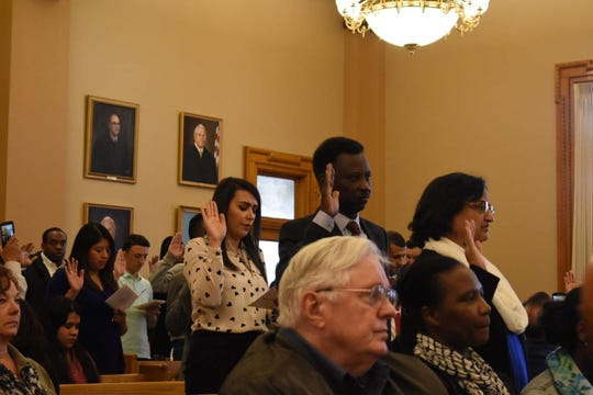 The most recent local naturalization ceremony at the ACA was held on March 27.