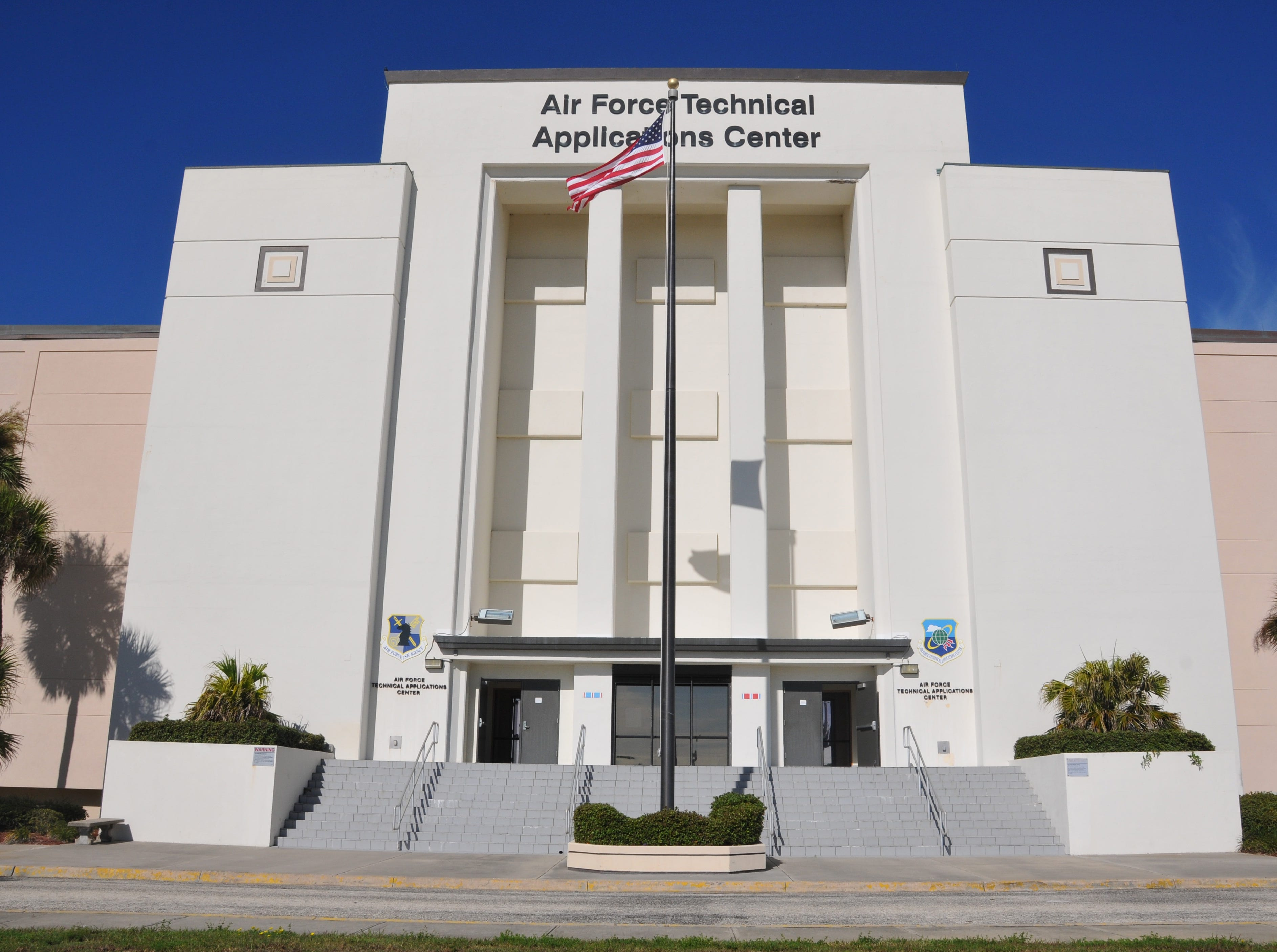 The original Air Force Technical Applications Center facing State Road A1A at Patrick Air Force Base, seen in this 2013 file photo.