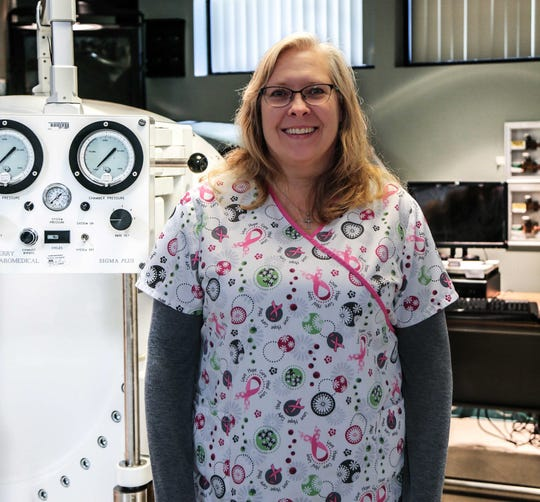 Karla Hopkins, LPN, is a the hyperbaric technologist for Parrish Wound Center in Titusville.