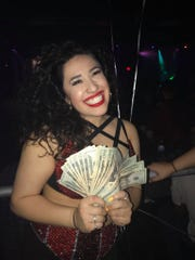Maxine Hinojosa of Abilene won $500 at a Selena Quintanilla look-alike contest in San Antonio Friday, March 22, 2019.